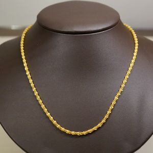 22KY Gold 18 Inch Fancy Rope Chain